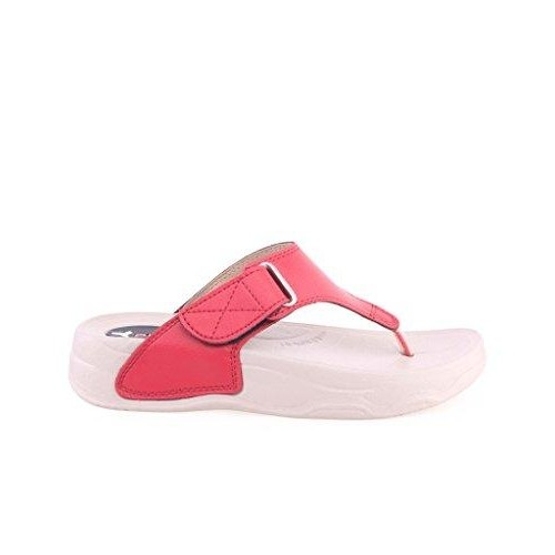 Pure Red Rubber Heel Chappals