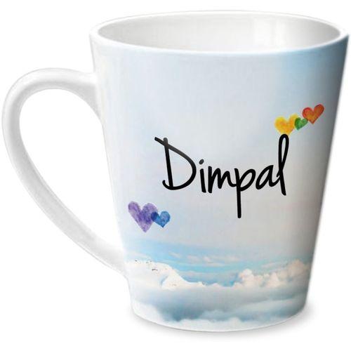 Hot Muggs Simply Love You Dimpal Conical Ceramic Mug(315 ml)