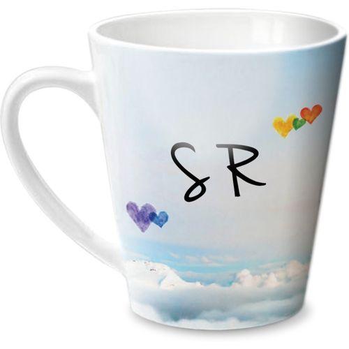 Hot Muggs Simply Love You S R Conical Ceramic Mug(315 ml)