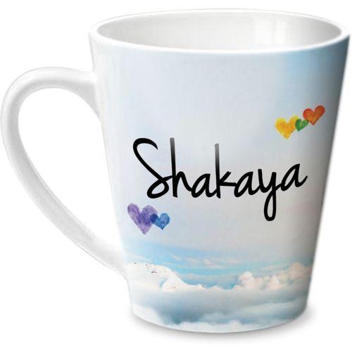 Hot Muggs Simply Love You Shakaya Conical Ceramic Mug(315 ml)