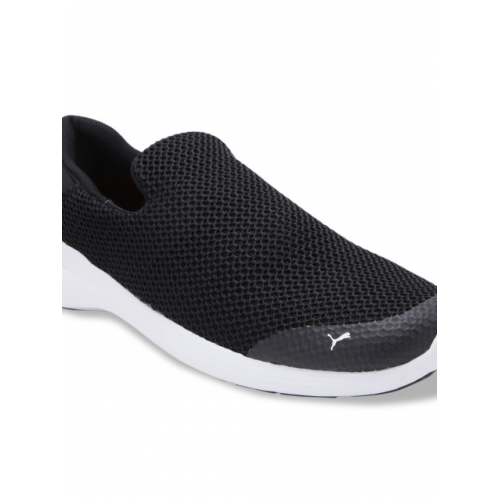 Puma Black Mesh slip on Running Shoes