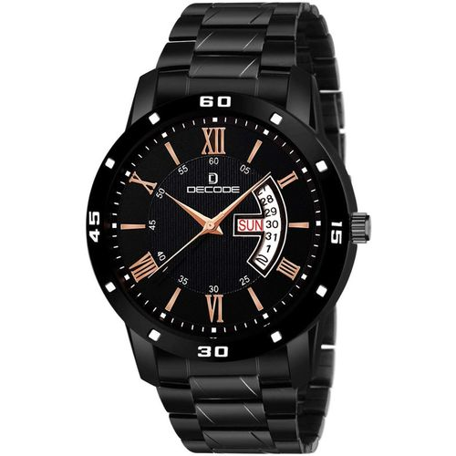 Decode EX877 All Black Analog Watch - For Men