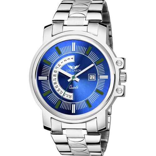 Lois Caron LCS-8157 BLUE DIAL DATE FUNCTIONING WATCH FOR BOYS Analog Watch - For Men