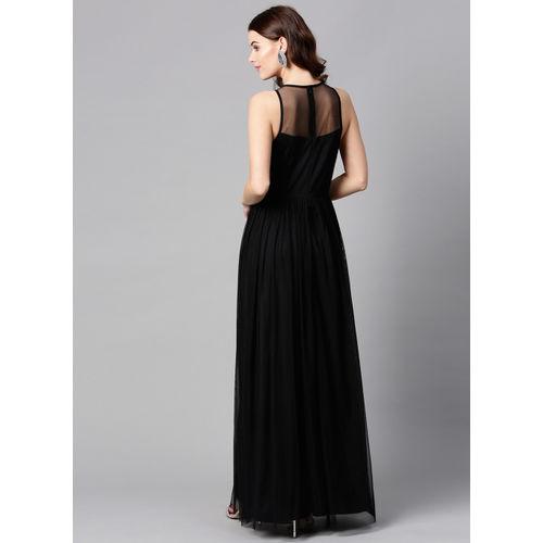 STREET 9 Black Embellished Maxi Dress