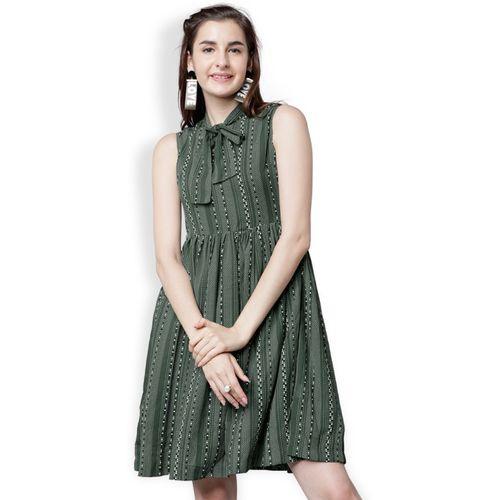 Tokyo Talkies Women Maxi Green Dress
