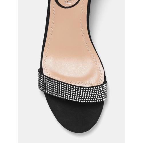 DressBerry Women Black Embellished Heels