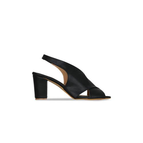 Kielz Women Black Solid Peep Toes
