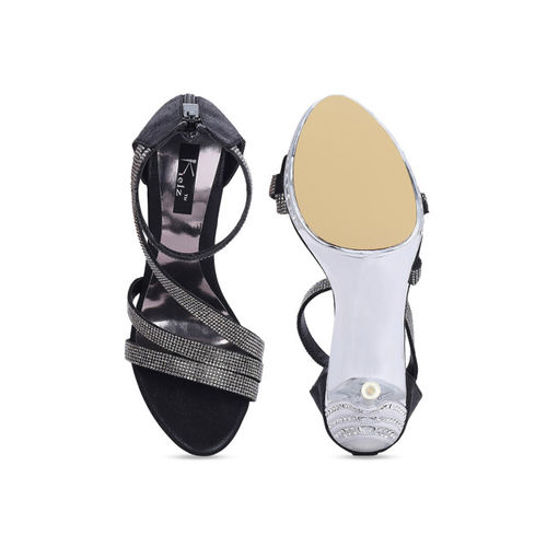 Kielz Women Black Embellished Sandals