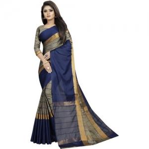 5afedf172 SNH Export Striped, Solid Fashion Silk Blend, Cotton Silk, Art Silk Saree(