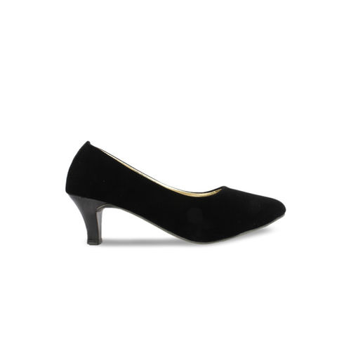 Shoetopia Women Black Solid Pumps