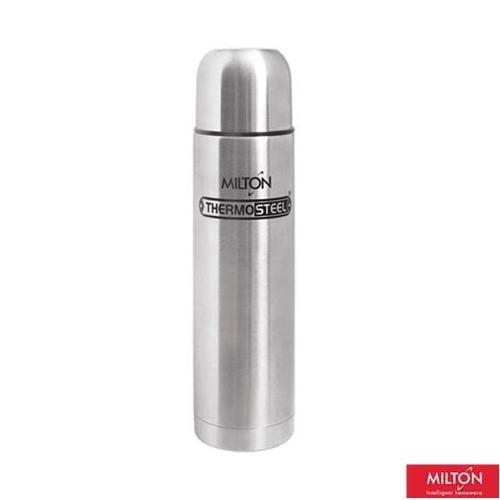 Milton Silver Thermosteel with Plain Lid, 1000 ml(EC-TMS-FIS-0047_STEELPLAINCO)