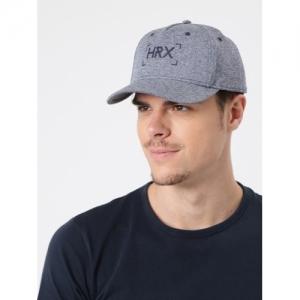 HRX by Hrithik Roshan Navy Blue Polyester Solid Baseball Cap