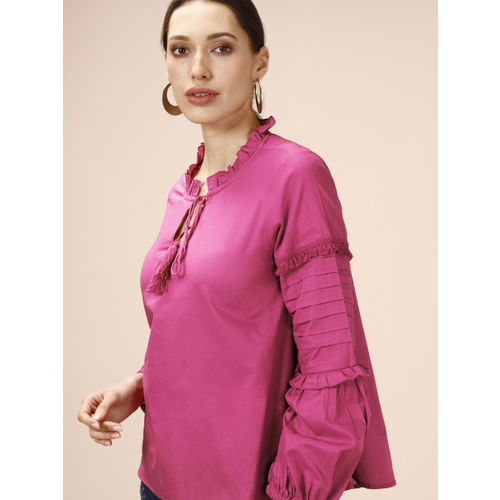 all about you from Deepika Padukone Women Pink Solid Top