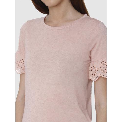 Vero Moda Women Pink Solid Top