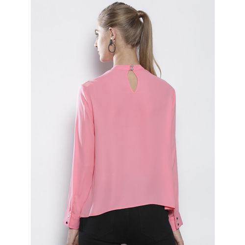 DOROTHY PERKINS Women Petite Pink Solid Top