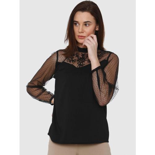 Vero Moda Women Black Solid Top