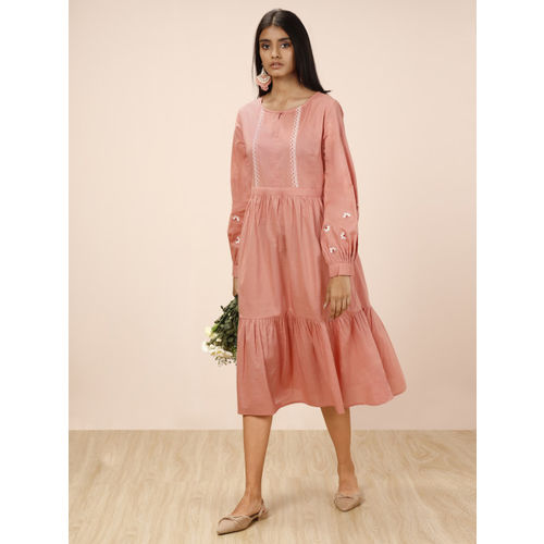 all about you by Deepika Padukone Women Pink Solid A-Line Dress