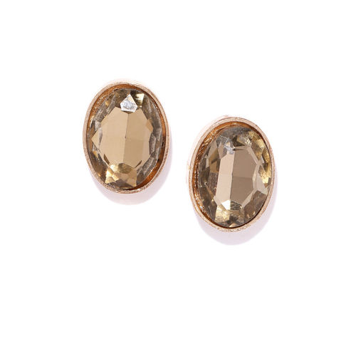 Bellofox Gold-Plated Stone-Studded Contemporary Jacket Earrings