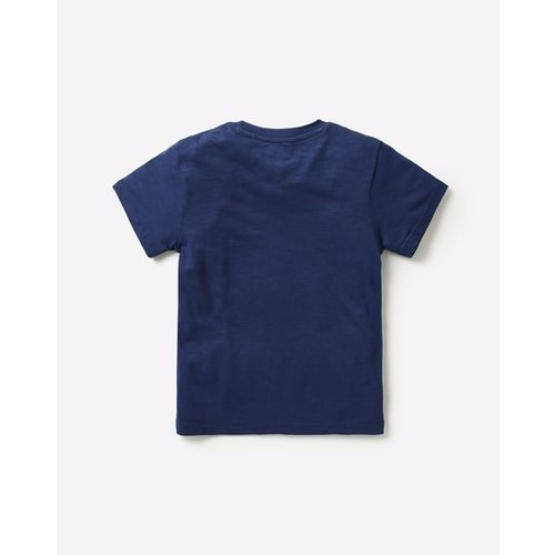POINT COVE Heathered Crew-Neck Printed T-shirt