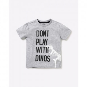 AJIO Tpyography Print Round-Neck T-shirt
