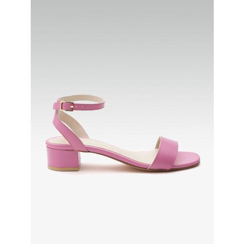 Carlton London Women Pink Solid Block Heels