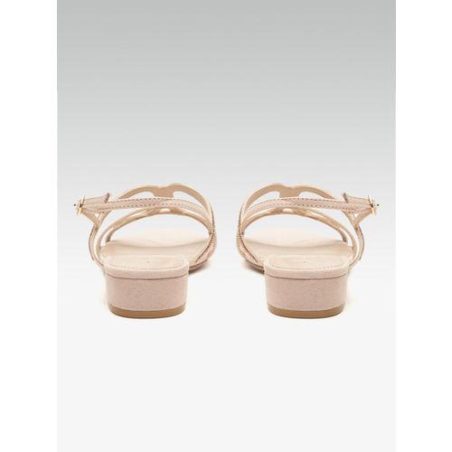 DOROTHY PERKINS Women Peach-Coloured Embellished Block Heels