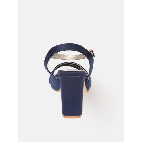 Lavie Women Navy Blue Solid Block Heels