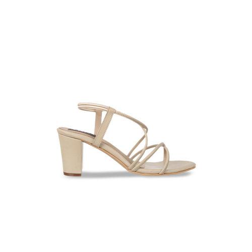 Flat n Heels Women Beige Solid Sandals