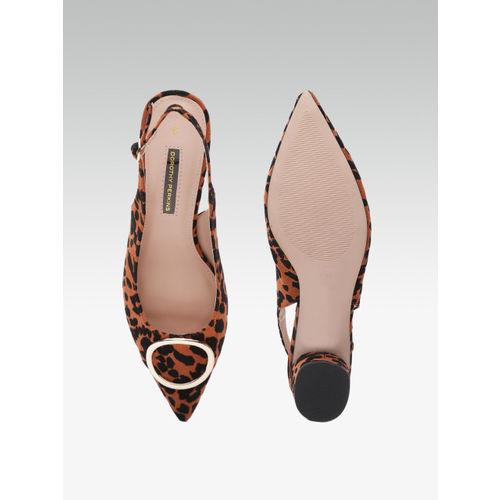 DOROTHY PERKINS Women Brown & Black Leopard Print Heels