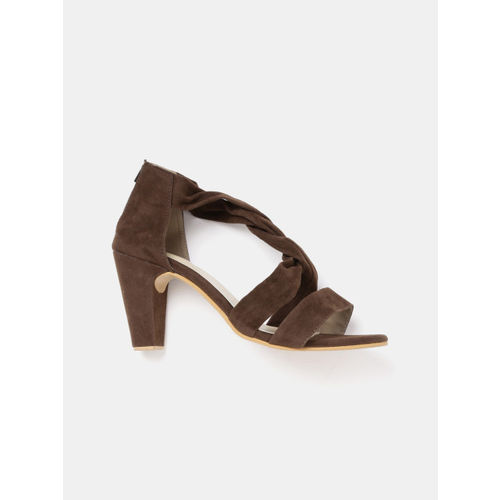 20Dresses Women Brown Solid Sandals