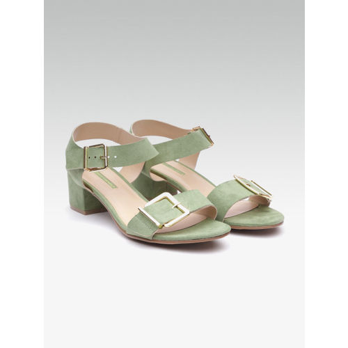 DOROTHY PERKINS Women Green Solid Block Heels