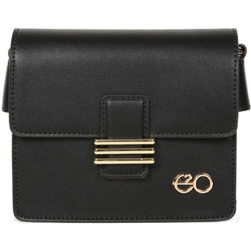 E2O Women Casual Black PU Sling Bag
