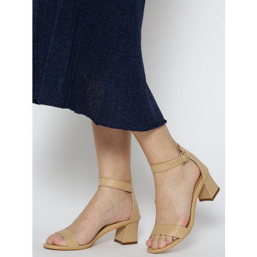 20Dresses Women Beige Solid Block Heels