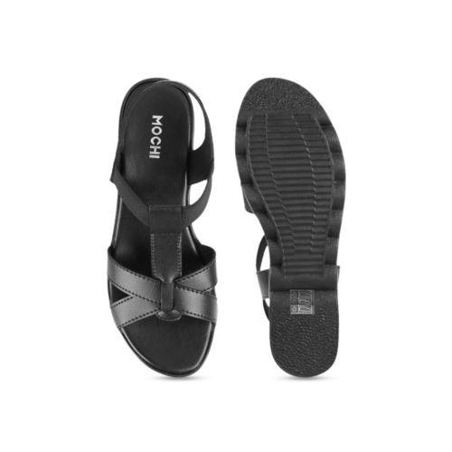 Mochi Women Black Solid Heels