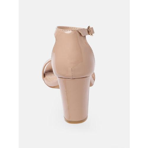 Mast & Harbour Women Pink Solid Sandals
