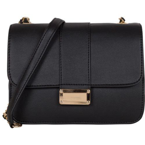 ADISA Women Casual Black PU Sling Bag