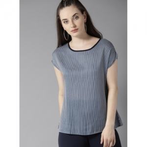 dd16d78f384b26 Buy Fame Forever by Lifestyle Women Navy & White Striped Regular Fit ...