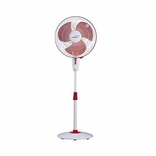 V-Guard Finesta STS 400mm Pedestal Fan (White Red)