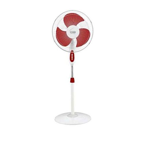 V-Guard Zwoosh HSP 55-Watt Pedestal Fan (White Red)