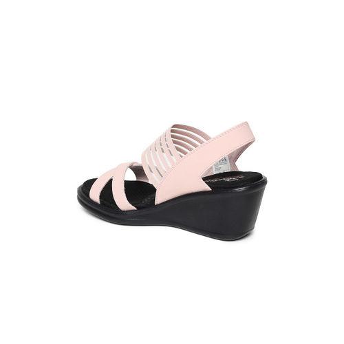 Skechers Women Pink Solid RUMBLERS - SOLAR BURST Wedge Sandals