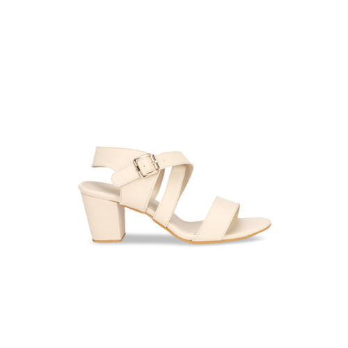 Lovely Chick Women Cream-Coloured Solid Heels