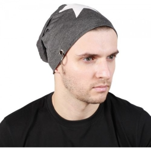 Noise Be a Star Beanie- Dark Grey With Ring Printed Skull Cap