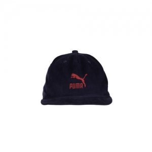 Puma Unisex Navy Blue Solid ARCHIVE Downtown Baseball Cap