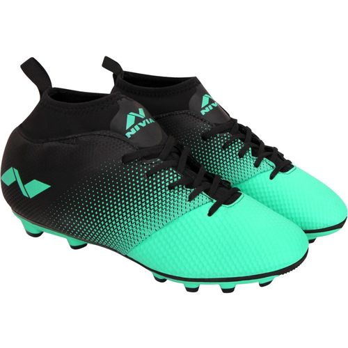 Nivia Marker Football Shoes For Men(Green, Black)