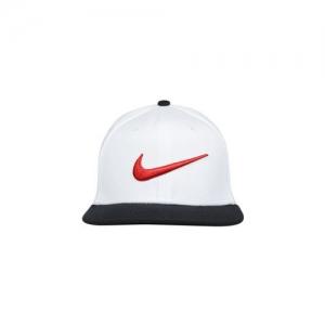 Nike Unisex White & Black Colourblocked Snapback Cap