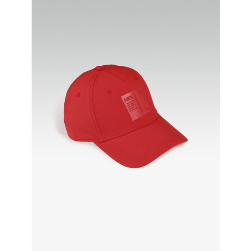 HRX by Hrithik Roshan Men Red Solid Baseball Cap