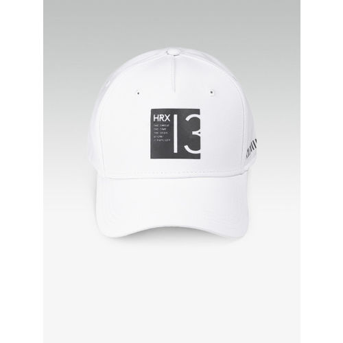 HRX by Hrithik Roshan Men White Solid Baseball Cap