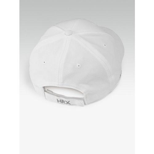 HRX by Hrithik Roshan Men White Solid Baseball Cap