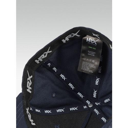 HRX by Hrithik Roshan Men Navy Blue Solid Baseball Cap