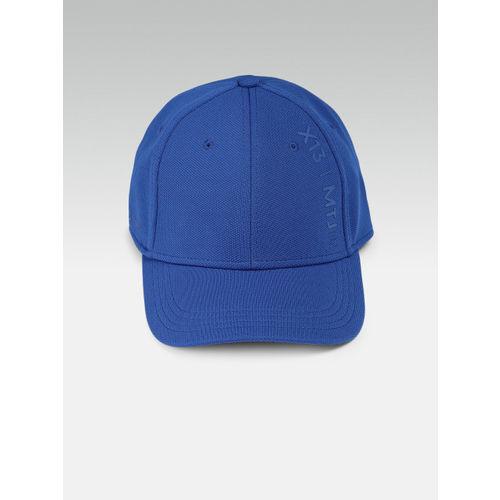 HRX by Hrithik Roshan Men Blue Solid Baseball Cap